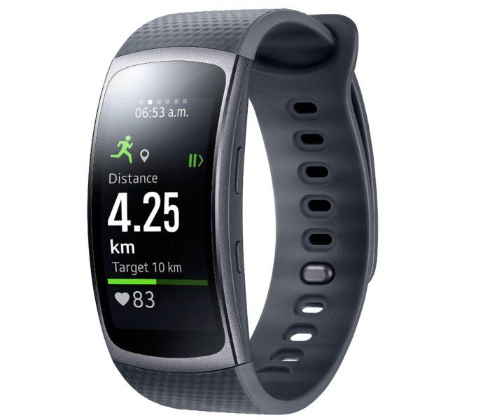 Samsung Gear Fit 2 Smartwatch mit Pulssensor und Benachrichtigungen - Dunkelgrau (S)